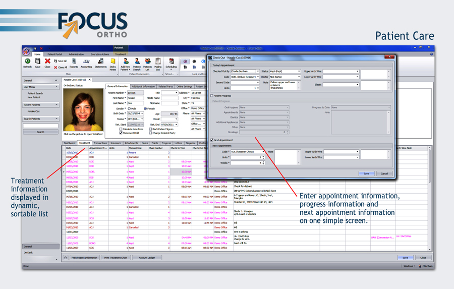 focus ortho patient care example